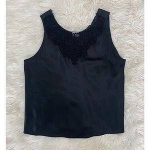 Heather Nicole | Vintage Silk Lace Black Camisole